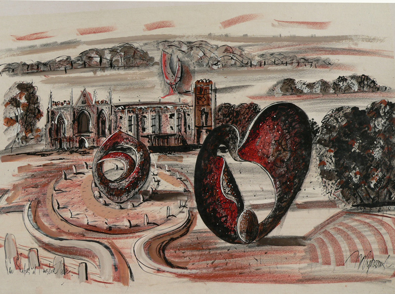 R Myerscough-Walker (1908-1984), Sculpture at Newstead Abbey, Gallery Lingard